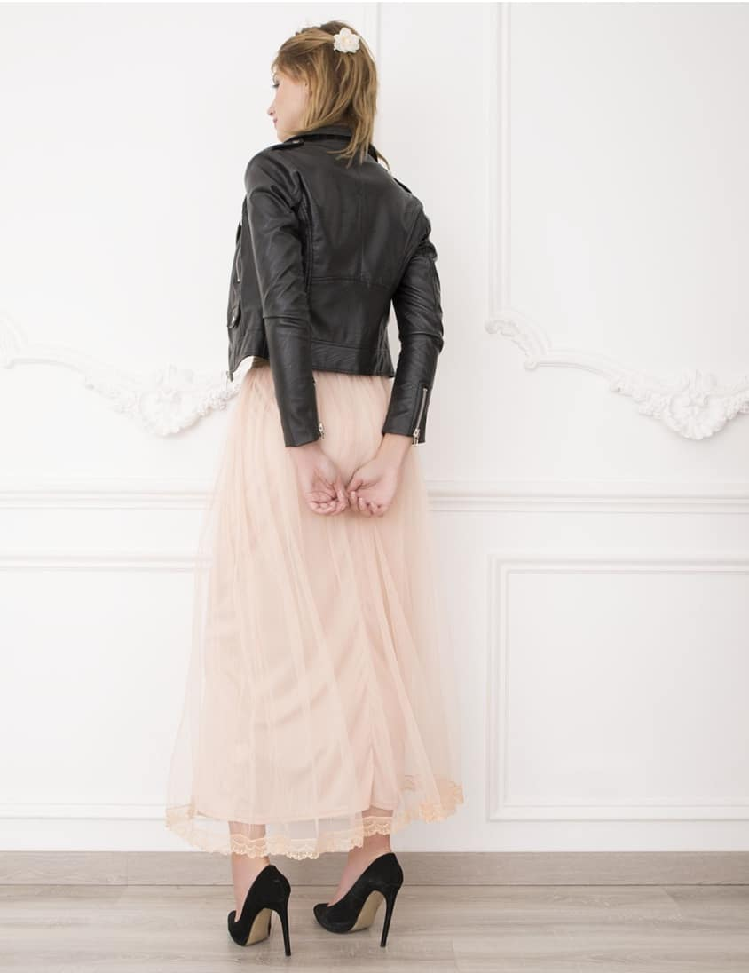 Alila-Bridesmaids-Tulle-Skirt-Peach-Danity