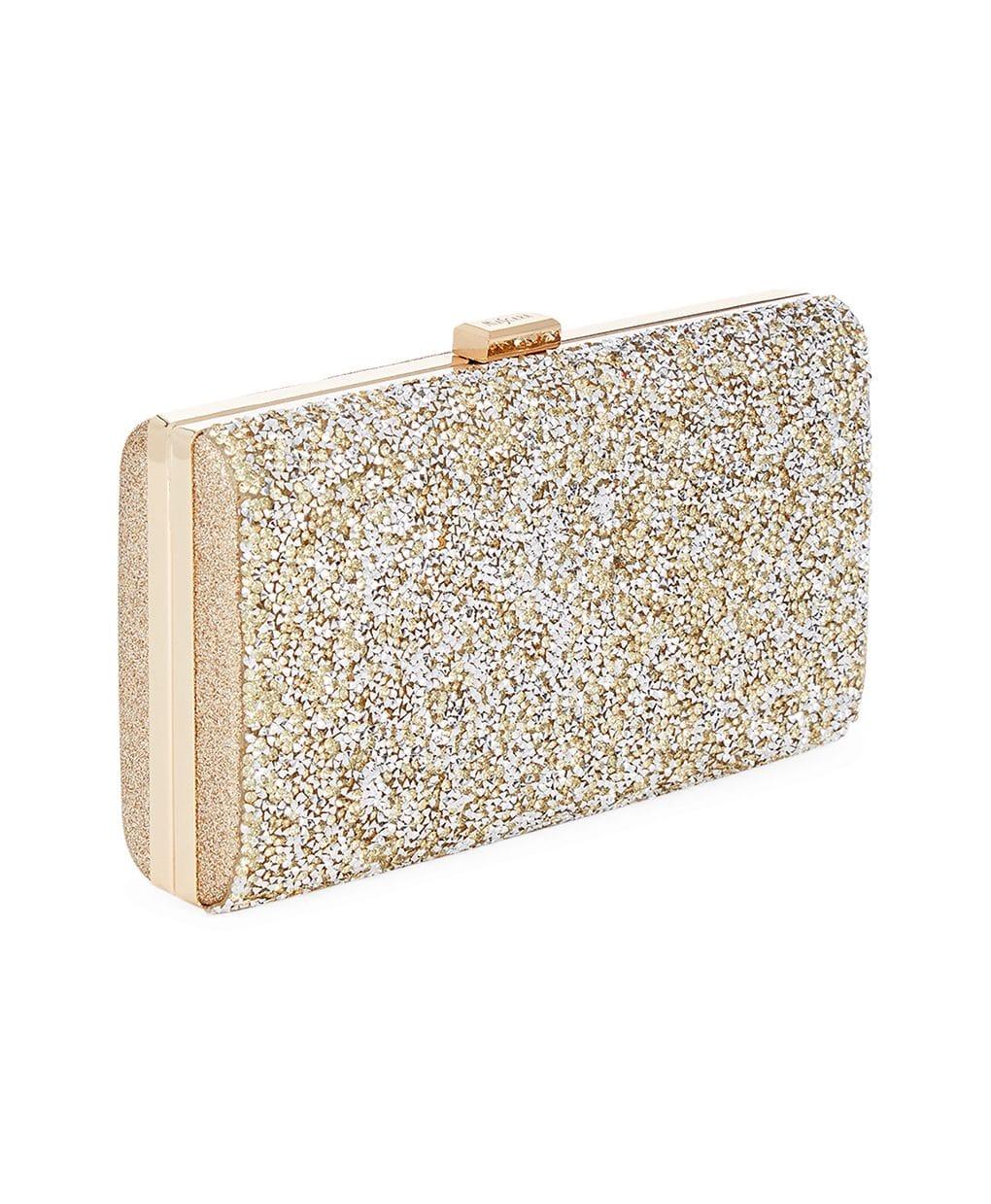 77bc5de548e6c Mascara Gold Embellished Box Clutch Bag | Alila Boutique