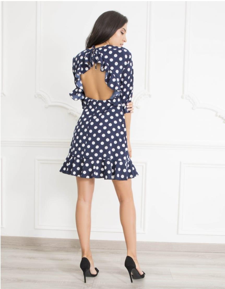 98901f935ac3 Danity Navy Polka Dot Dress | Alila Boutique