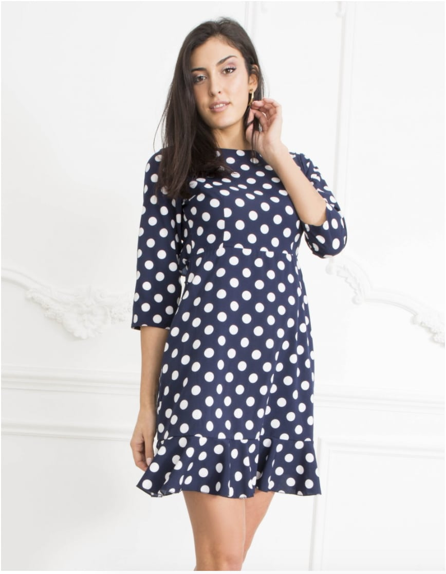 Alila-Navy-polka-dot-open-back-dress-Danity