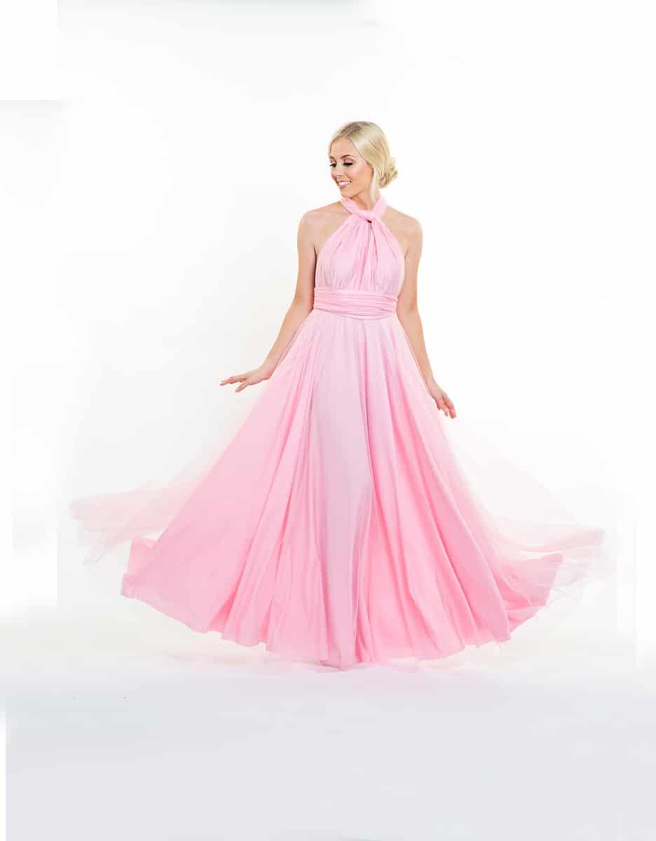 Alila-Blushing-Pink-Tulle-Multiway-Bridesmaids-Dress-Goddess-By-Nature