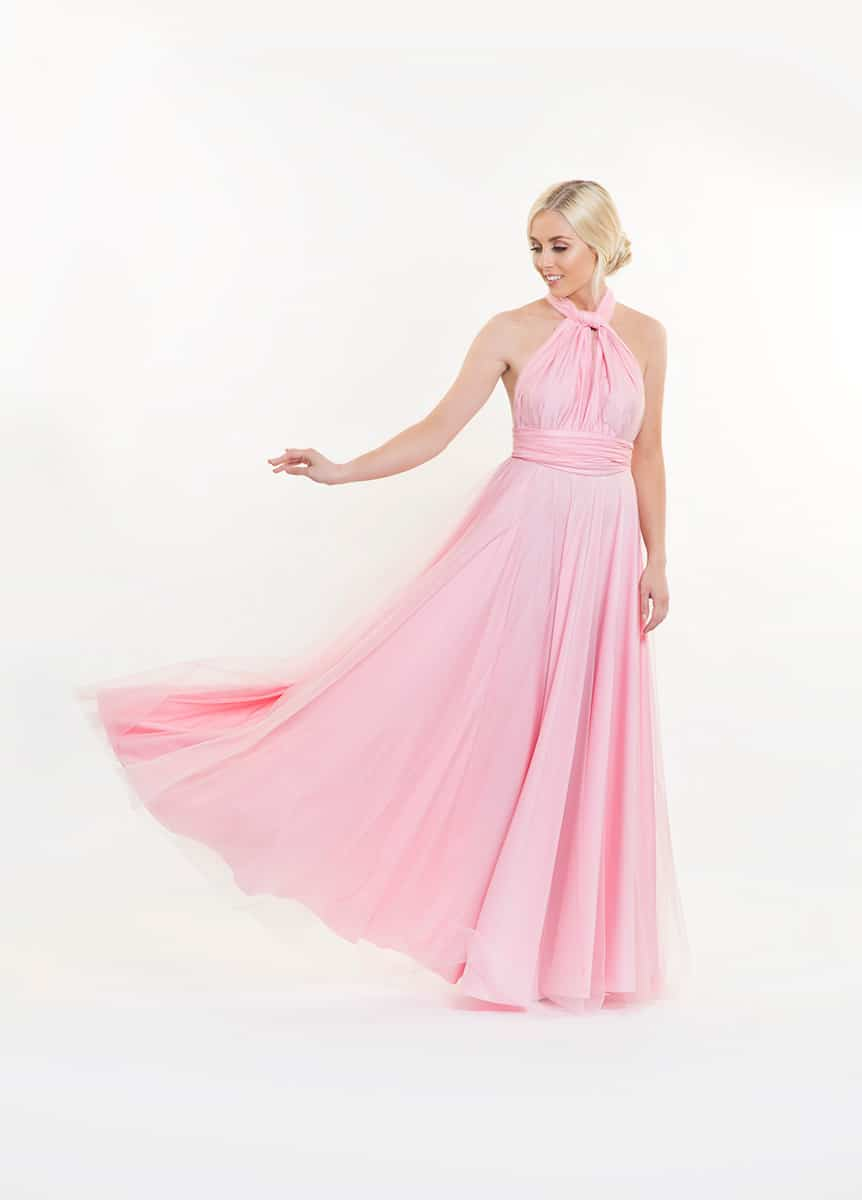 Alila-Baby-Pink-Tulle-Multiway-Bridesmaids-Dress-Goddess-By-Nature