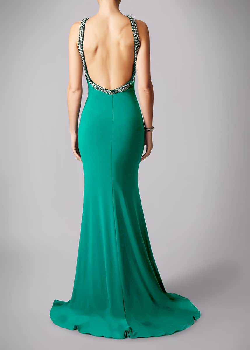 Alila-Dream-Green-Backless-Beaded-Debs-Dress-Mascara