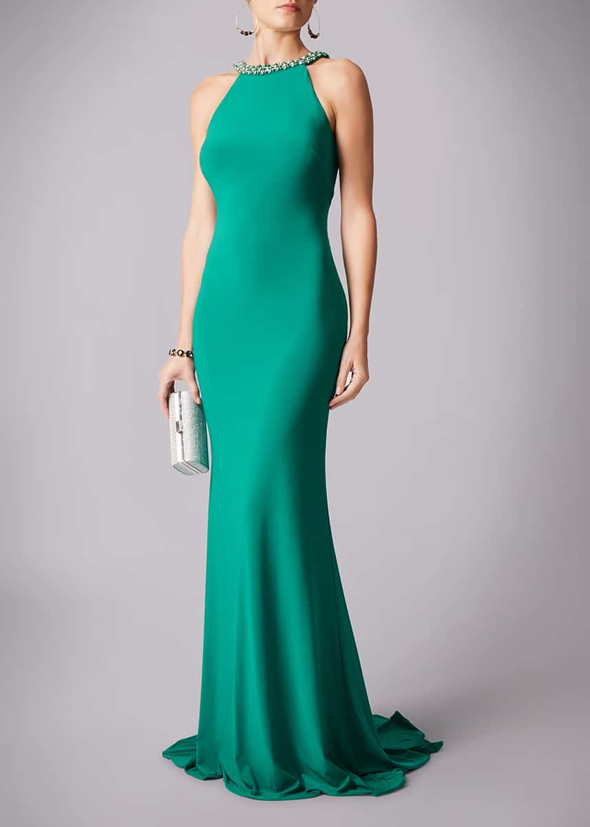 Alila-Dream-Green-Backless-Debs-Dress-Mascara