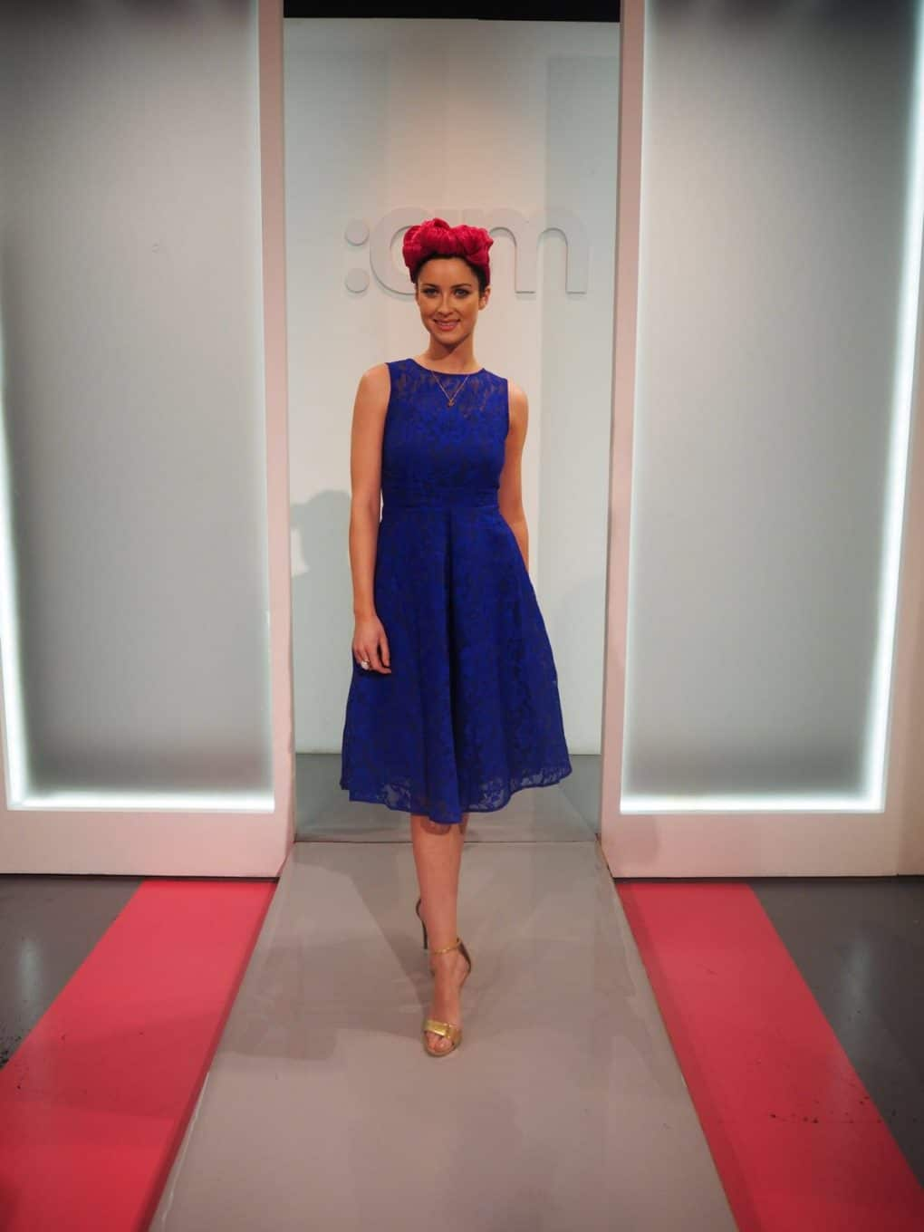 Jolie-Moi-Electric-Blue-Fit-and-Flare-Lace-Dress-Ireland-AM-Alila