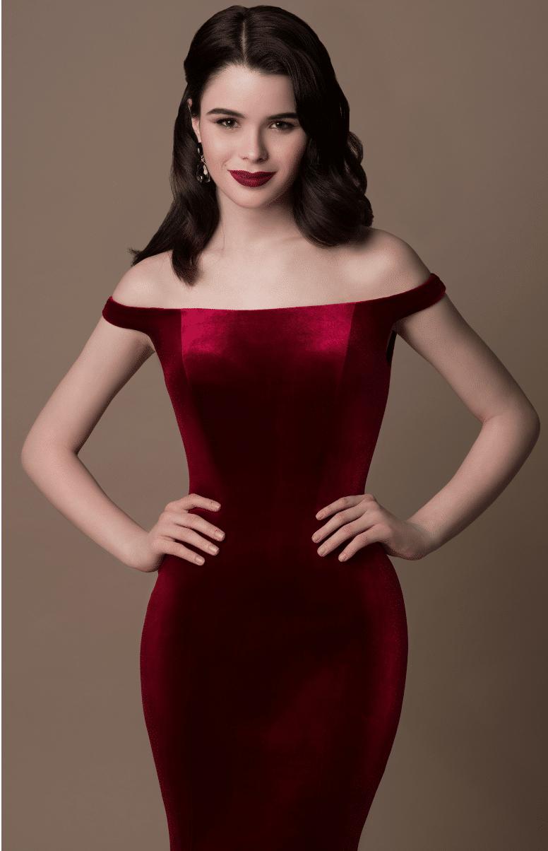 Gino Cerrutti Red Velvet Gown