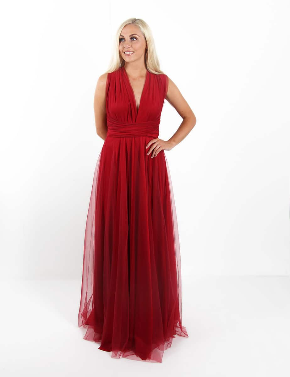 Bridesmaids-Dresses-Goddess-By-Nature-Red-Wine-Tulle-Multiway-dress-Alila
