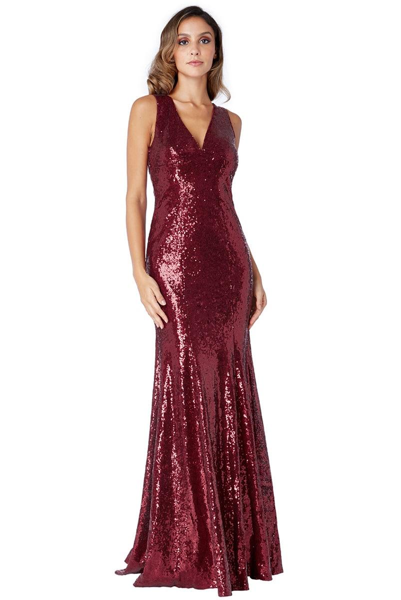 Burgundy-Sequin-debs-dress-Alila-Boutique-City-Goddess