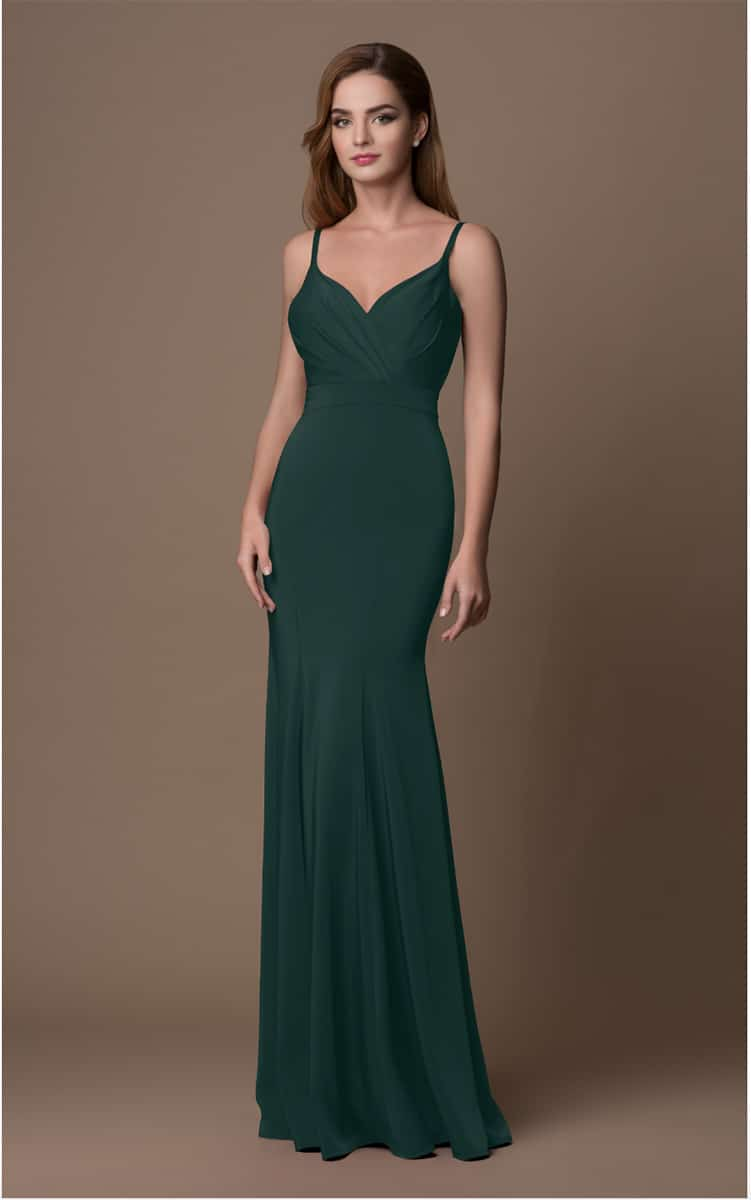 GINO-CERRUTTI-Hunter-Green-Debs-Dress-Gown-Alila-Boutique-Debs