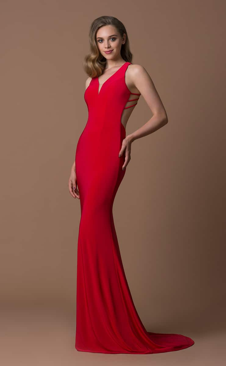 Gino-Cerrutti-Strappy-Back-Red-Fishtail-Debs-Dress-Alila-Boutique