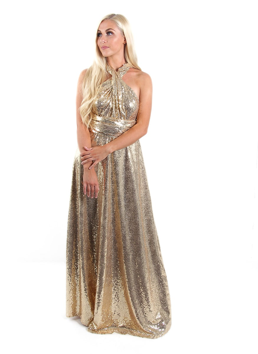 Sequins-Bridesmaids-Multiway-Goddess-By-Nature-Gold-Champagne-Alila-Bridal