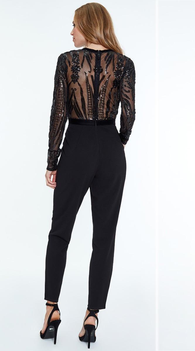 Alila-Black-back-sequin-Jumpsuit-dancing-with-the-stars-Jennifer-Zamparelli
