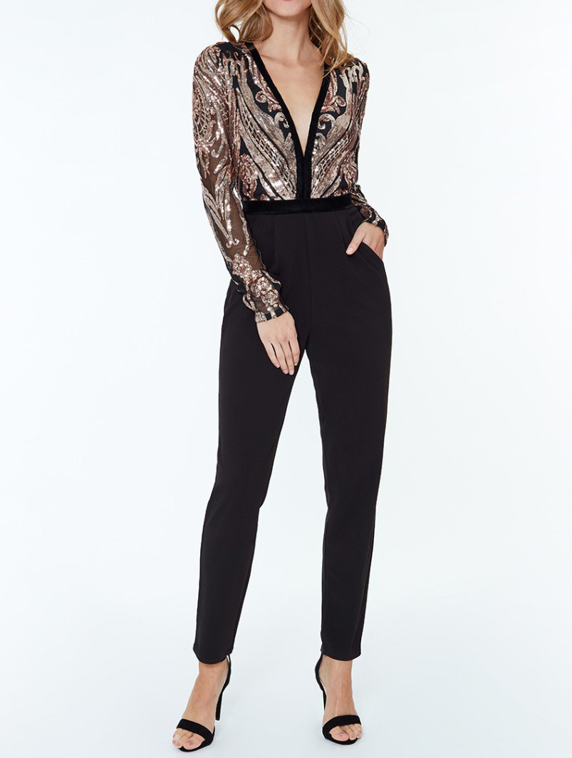 Alila-Champagne-Black-Jumpsuit-dancing-with-the-stars