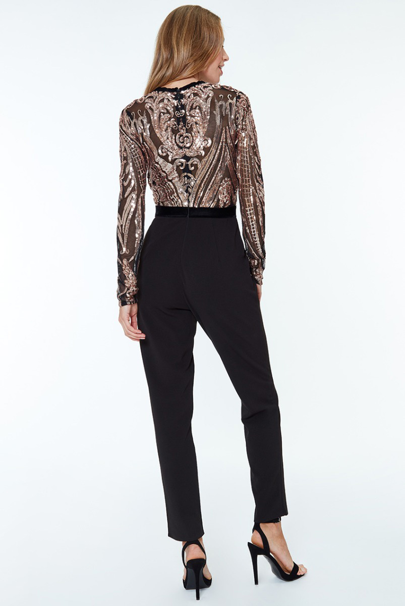 Alila-Champagne-and-Black-Jumpsuit-dancing-with-the-stars