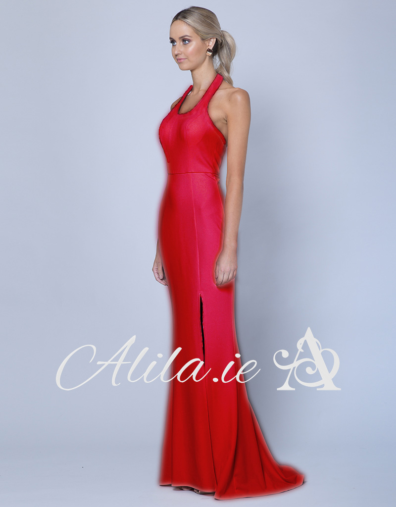 B35D46-LT-Bariano-Lipstick-Red-Pink-Scoop-gown-Alila-Bridal