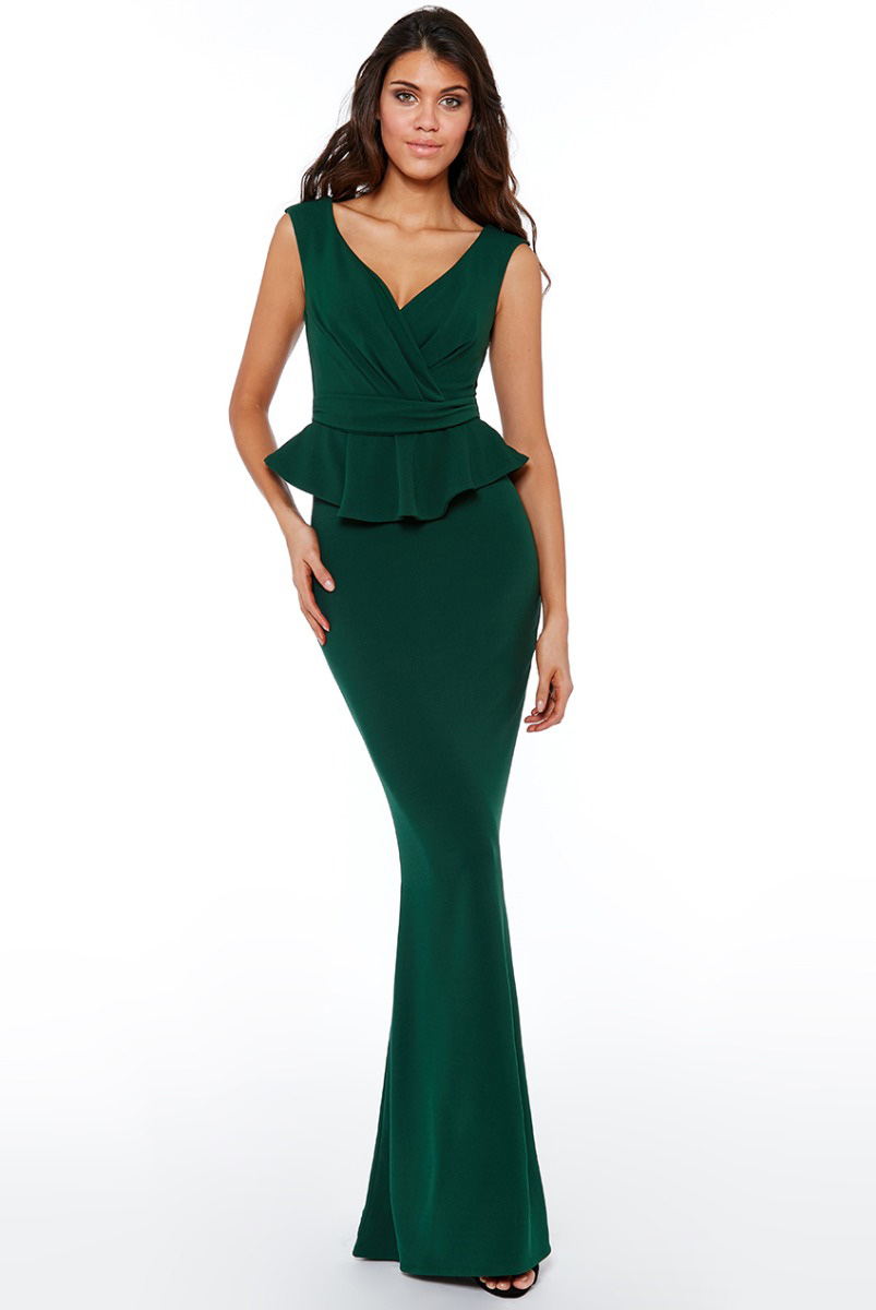 d5482ebdfa4 DR1913-Emerald-Green-Peplum-Bridesmaids-Dress-Alila-Boutique-