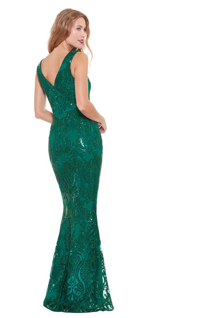 DR1409 - Emerald-Green-Sequin-Embroidered-Gown-Debs-Alila-Bridal