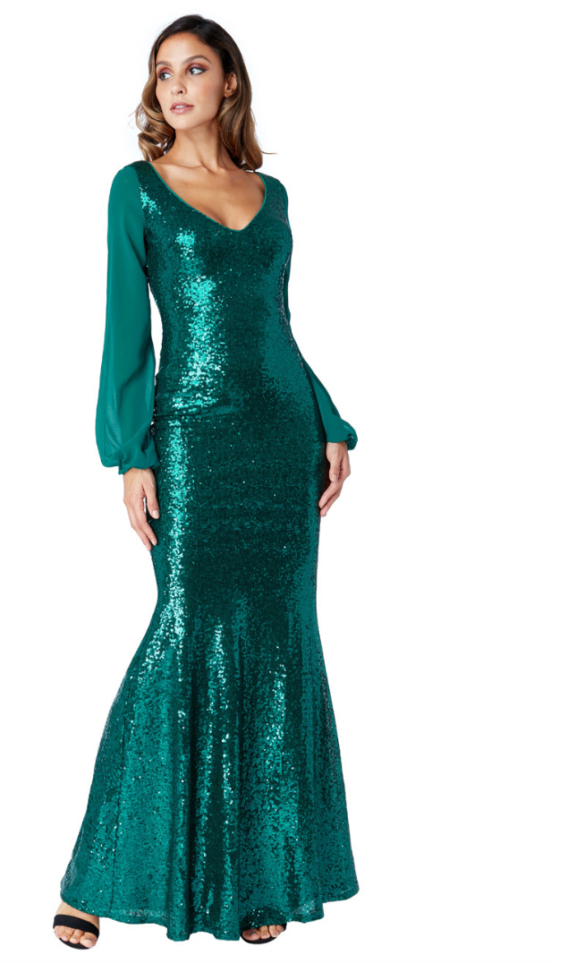 DR267A-Emerald-Sequin-Long-Sleeve-bridesmaids-Gown-Alila