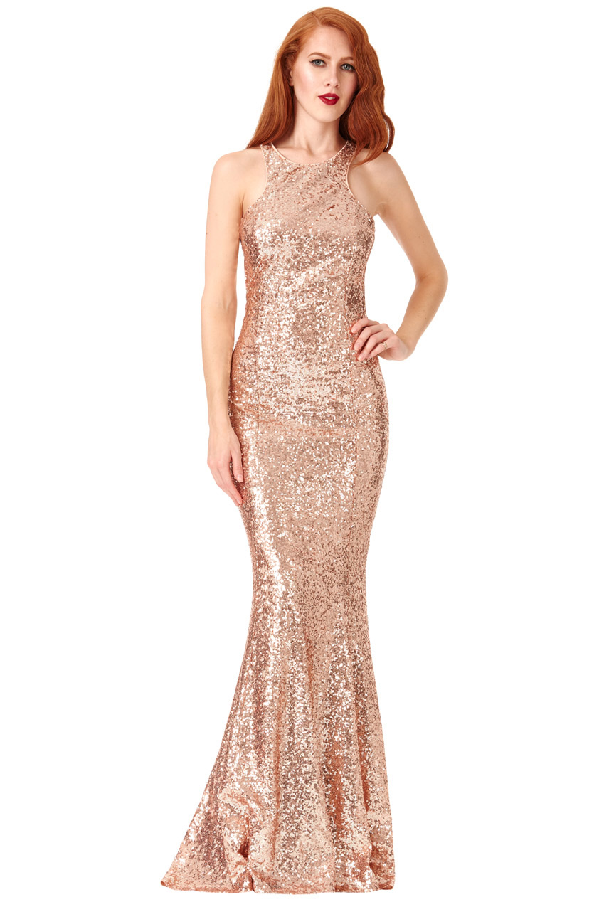 DR757SB-champagne-sequin-open-bow-back-debs-dress-Alila-Boutique