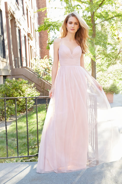 Hayley Paige Dusty Rose English net A-line sweetheart gown