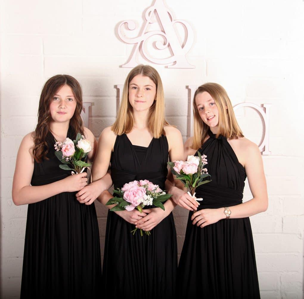 Junior-Bridesmaid-Dress-Black-MULTIWAY-Alila-Boutique