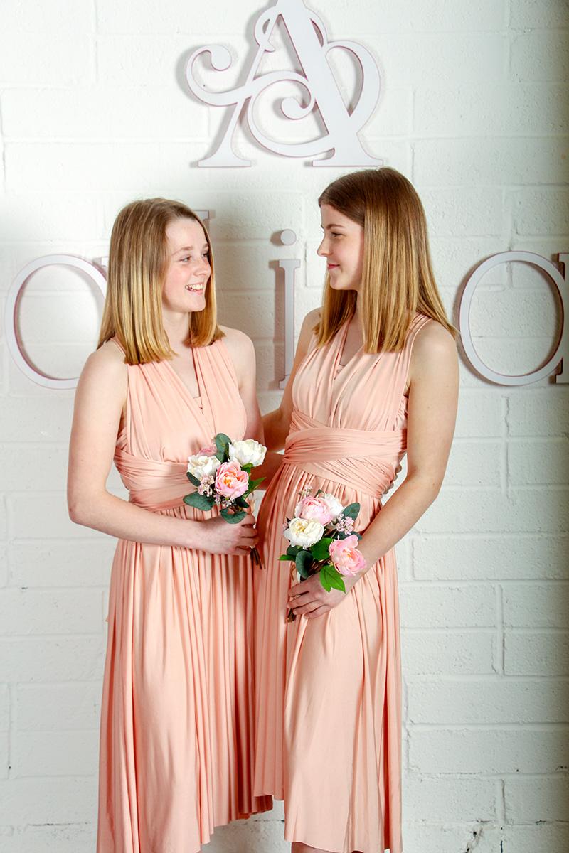 Petal Pink Long Bridesmaid Dresses