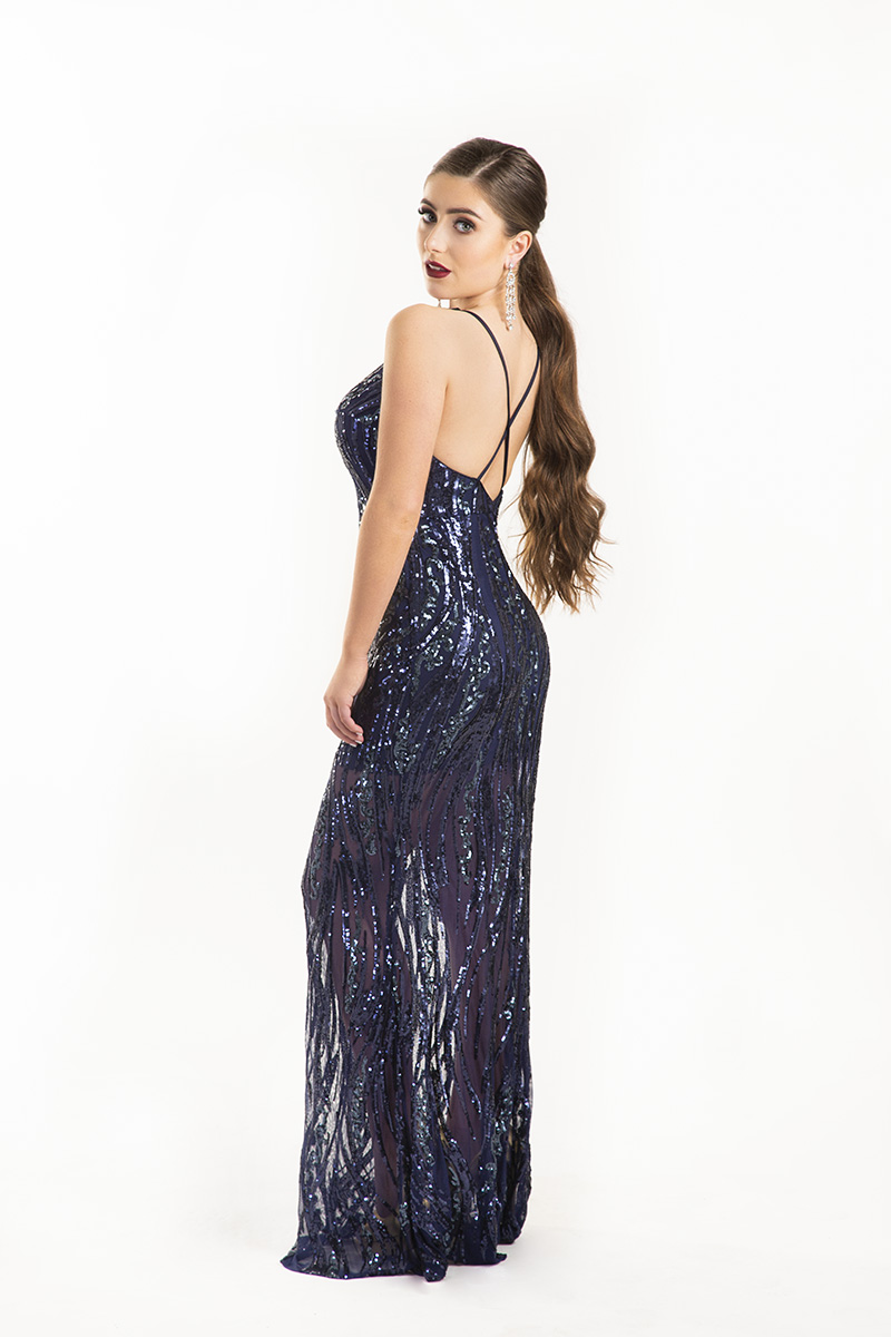 Chloe-Ormond-Navy-Sheer-Sequin-Strappy-back-Debs-Dress-Alila