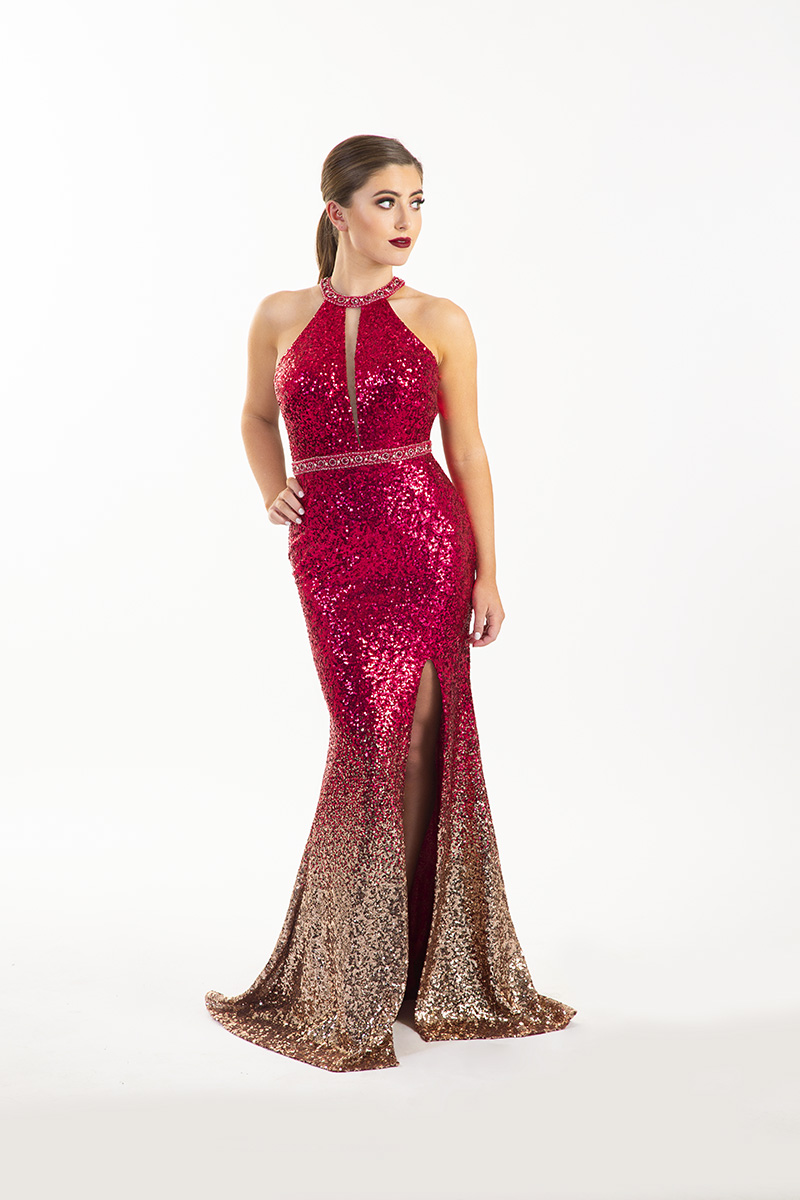 Chloe-Ormond-Red-and-Gold-Ombre-Sequin-open-back-debs-dress-Alila-boutique