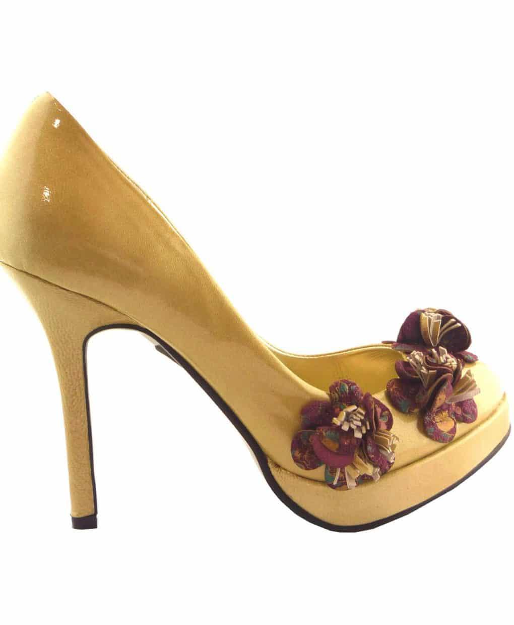 Minette-patent-flower-round-toe-heels-Alila