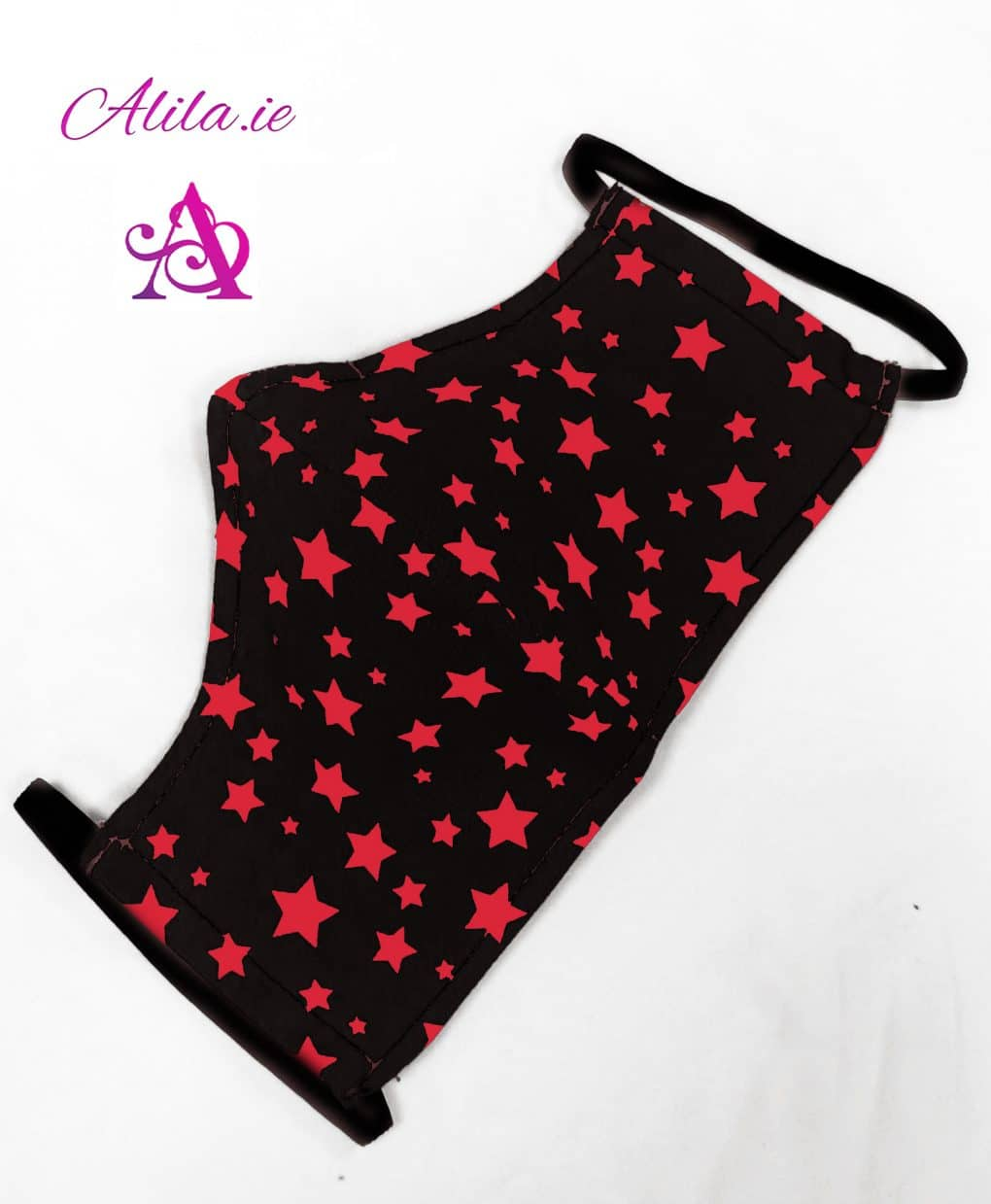 Black-and-red-stars-Face-mask-Alila-Boutique-Face-Covering