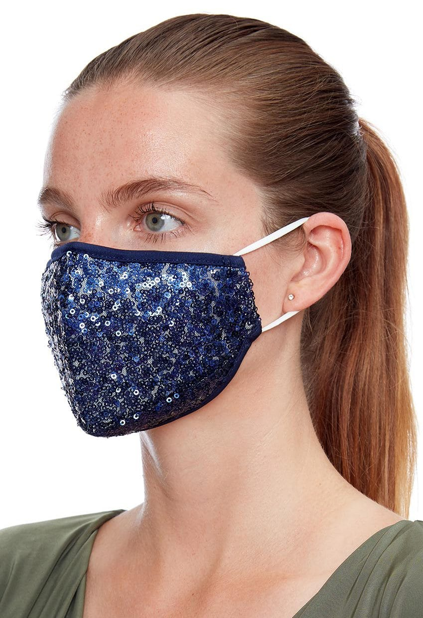 Navy-sequin-face-mask-ladies-face-covering Alila