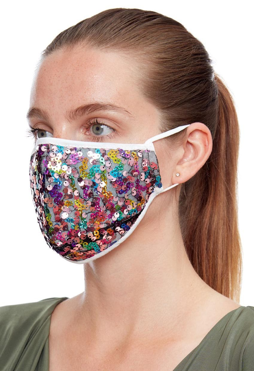 Rainbow-sequin-face-mask-ladies-face-covering Alila
