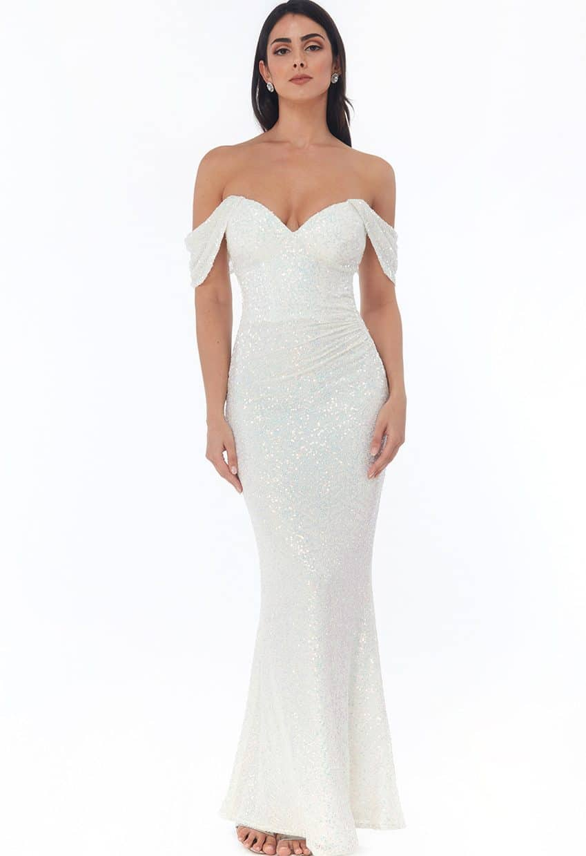 White-Iridescent-Strapless-bardot-Debs-Dress-Alila-Ireland
