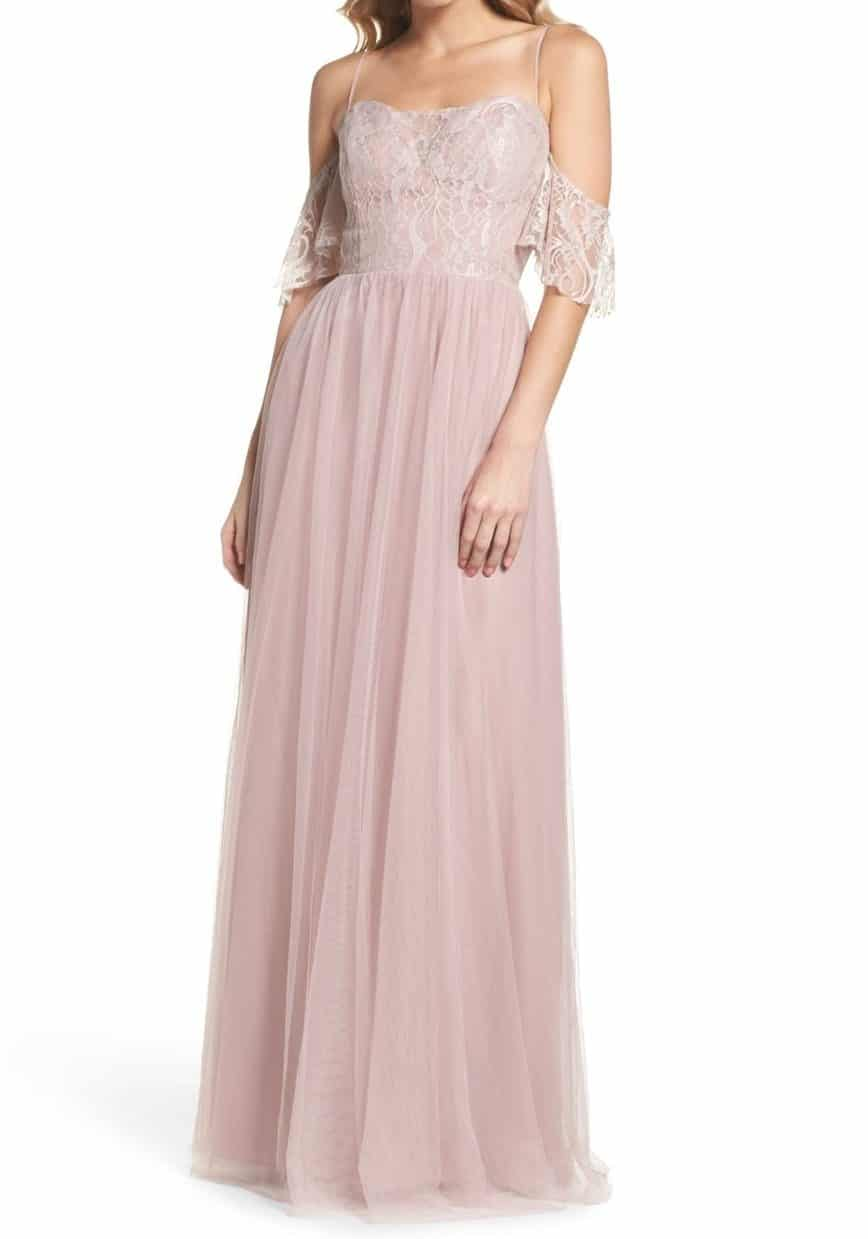Hayley Paige English net and lace A-Line Gown