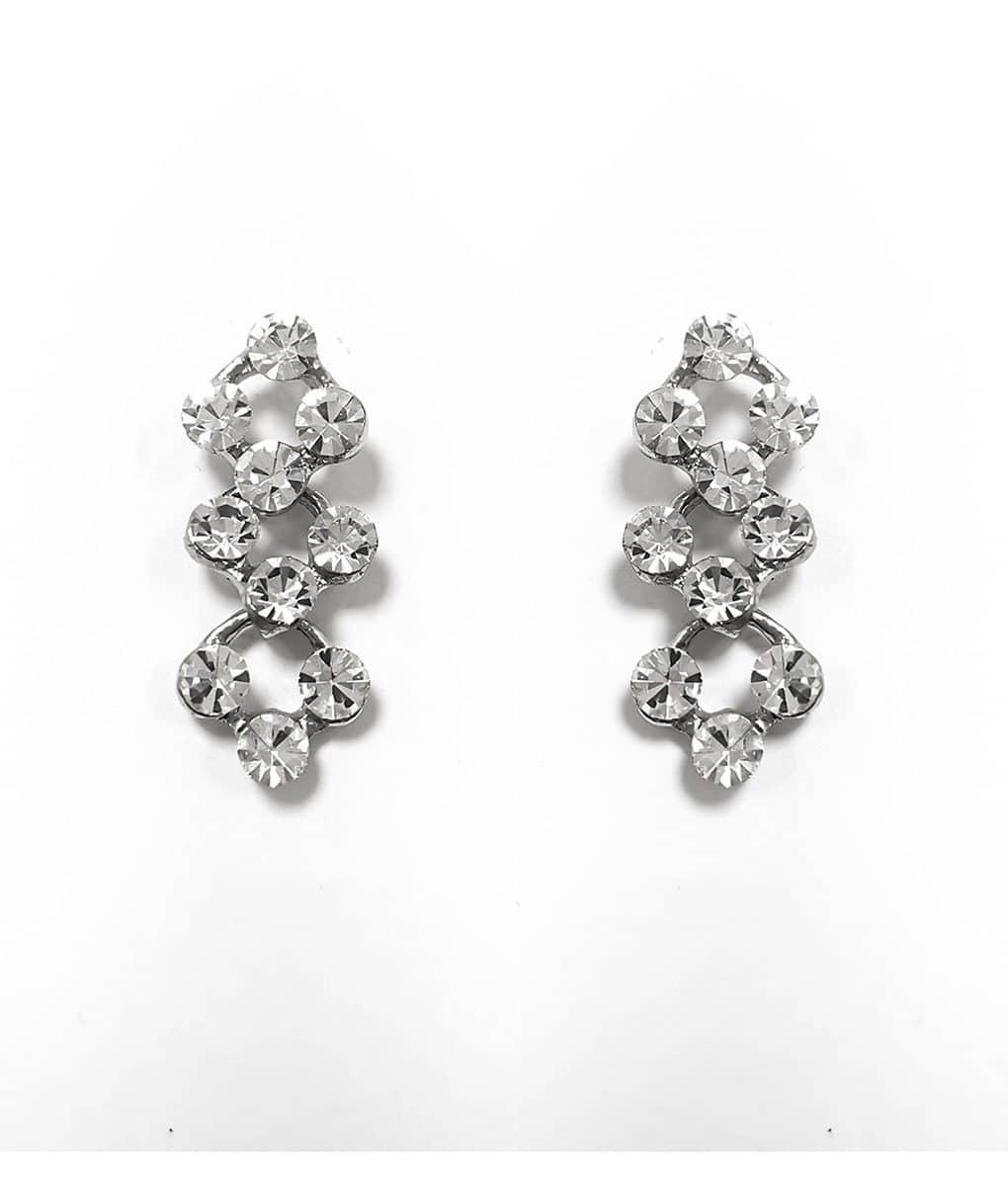 Delicate Crystal Linked Earrings