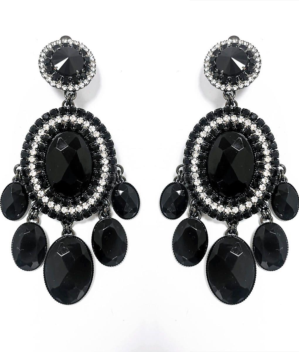 Large-Black-and-crystal-clip-on-earrings-Alila-Irish