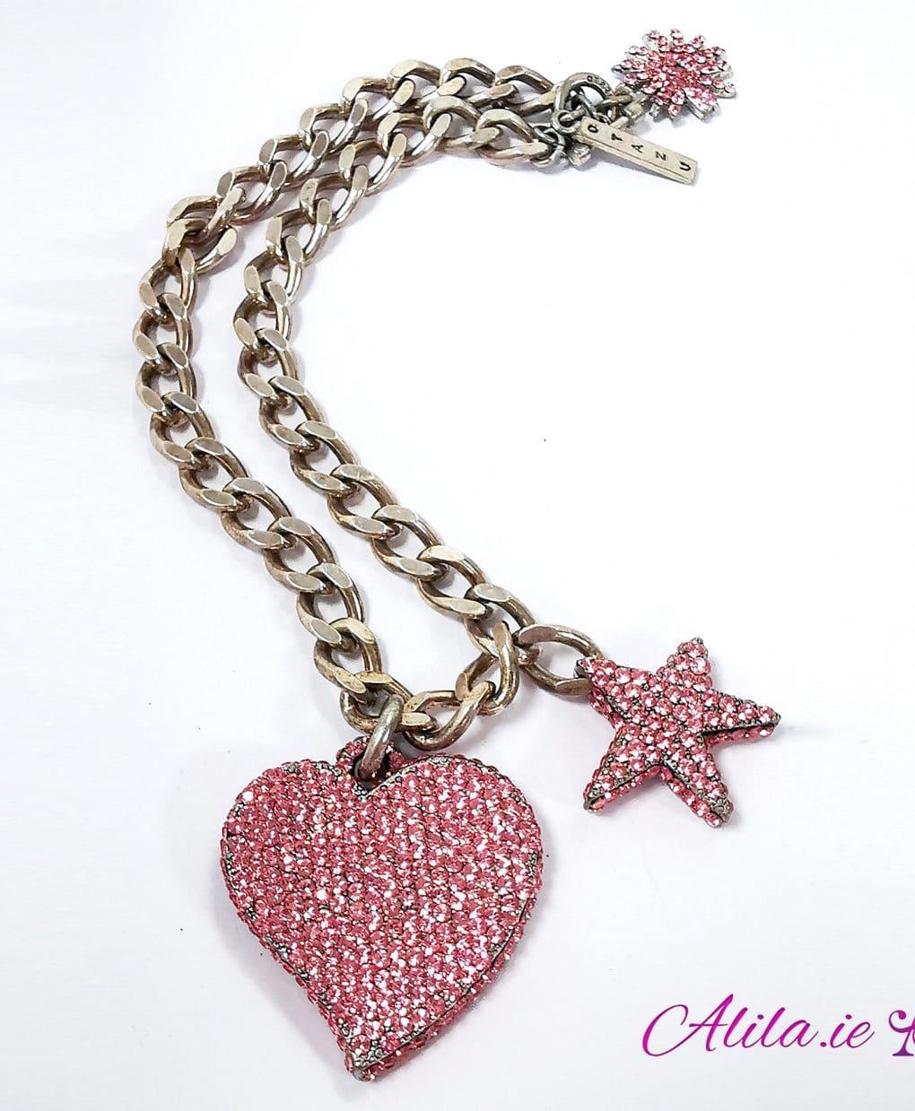 Otazu-Pink-SWAROVKSI-Crystal-Heart-star-necklace-Alila-Ireland